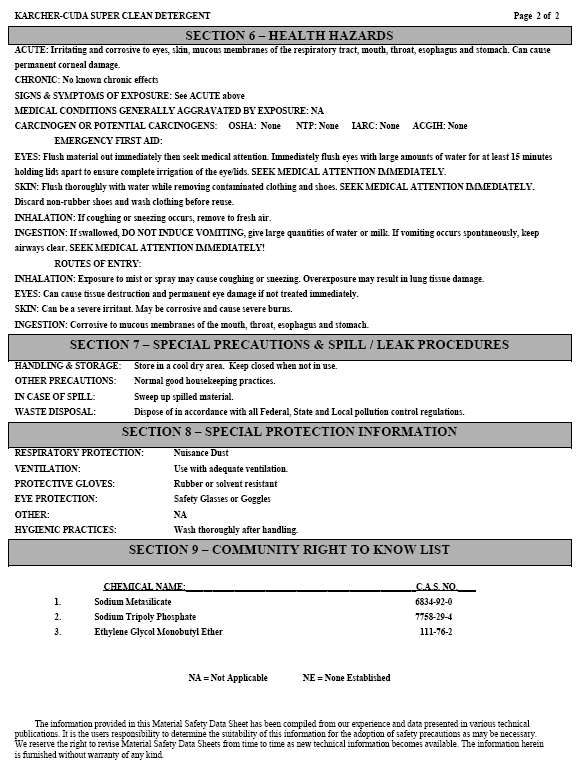 AX-IT International - Material Safety Data Sheet for AX-IT